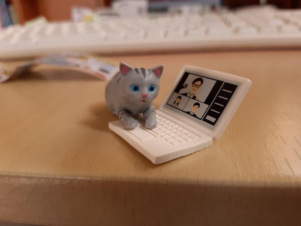テレワーク-じゃま猫